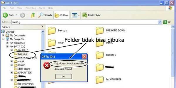 Mengembalikan data yang tidak bisa dibuka